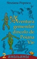 """Coperta ediției electronice a romanului """"Aventura gemenilor dincolo de Poiana Vie"""""""